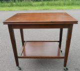 Mahogany Two Tier Fold Over Tea Trolley